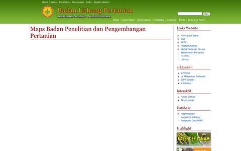 Screenshot of Maps & Directions Page deptan.go.id - Map Litbang Pertanian - Balitbangtan - captured Sept. 25, 2014