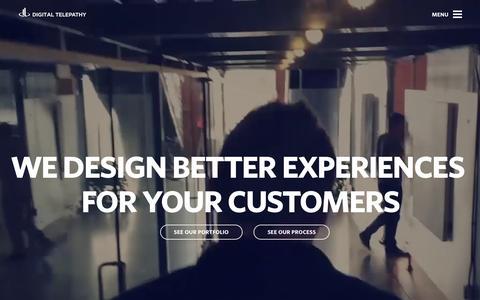 Screenshot of Home Page dtelepathy.com - Customer Experience & UX Design Agency | Digital Telepathy - captured Feb. 20, 2016