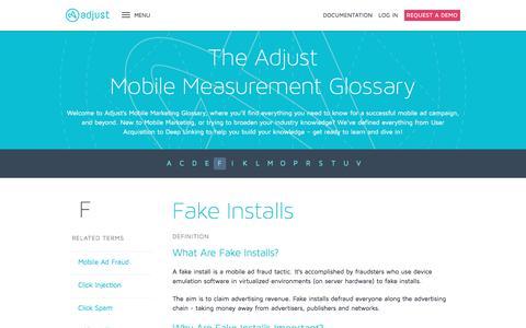 Fake Installs | The Mobile Measurement Glossary | Adjust