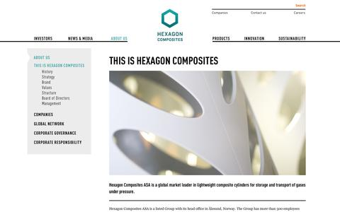 Screenshot of About Page hexagon.no - This is Hexagon Composites - Hexagon - captured Oct. 2, 2014