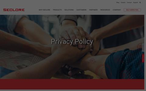 Screenshot of Privacy Page seclore.com - Privacy Policy - Seclore - captured April 23, 2019