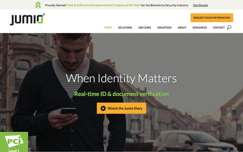 Trusted ID and Identity Verification Solutions | Jumio