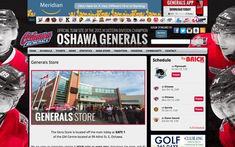 Screenshot of Hours Page oshawagenerals.com captured Oct. 7, 2014