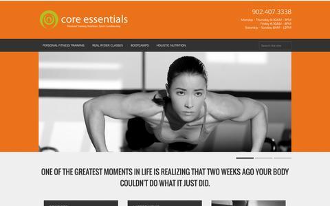 Screenshot of Home Page coressentials.ca - Home | coressentials.ca - captured Oct. 3, 2014