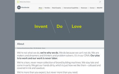 Screenshot of About Page idlww.com - 3D Visualtization, Retail Branding Design Consultants & Agency - captured Oct. 3, 2014