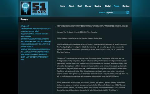 Screenshot of Press Page 51minds.com - 51 Minds Press Archives » 51 Minds - captured Oct. 9, 2014