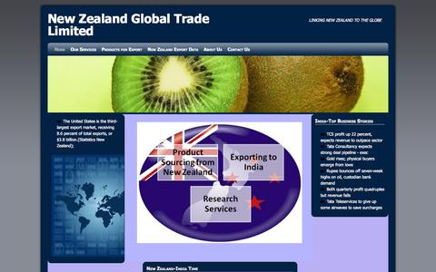 Screenshot of Home Page nzgtl.com - New Zealand Global Trade Limited | LINKING NEW ZEALAND TO THE GLOBE - captured Sept. 4, 2015