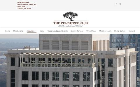 Screenshot of About Page peachtreeclub.com - The Peachtree Club - Atlanta, GA - Club Info - captured March 4, 2018