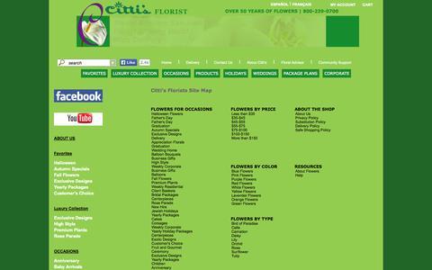 Screenshot of Products Page cittisflorist.com captured Sept. 26, 2014