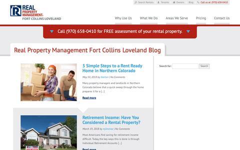 Screenshot of Blog rpmfortcollins.com - Fort Collins CO Property Management Blog   Real Property Management Fort Collins Loveland - captured Oct. 18, 2018