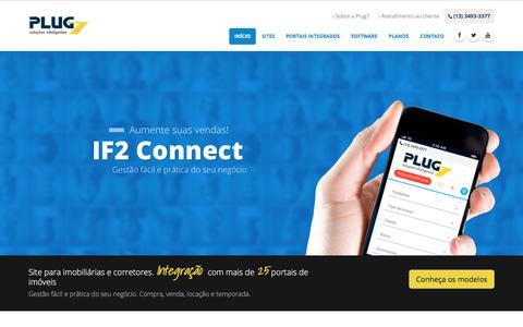 Screenshot of Home Page plug7.com.br - Site Para Imobiliárias e Corretores de Imóveis - captured Jan. 31, 2018