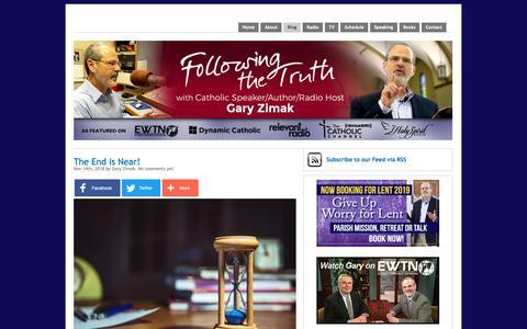 Screenshot of Blog followingthetruth.com - The blog of Catholic speaker and author Gary Zimak | Following The Truth - captured Nov. 14, 2018