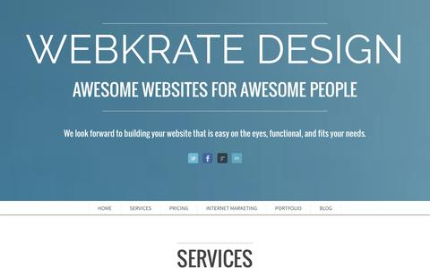 Screenshot of Blog Contact Page Signup Page webkrate.com - WebKrate Design - Thank You for Visiting - captured Oct. 25, 2014