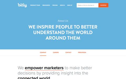 Screenshot of About Page bitly.com - About Our Company | Bitly - captured Oct. 10, 2014