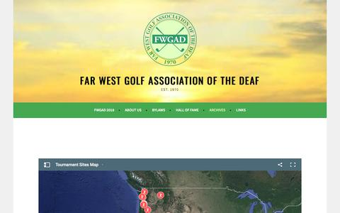 Screenshot of Maps & Directions Page fwgad.org - Map – Far West Golf Association of the Deaf - captured June 29, 2018