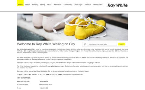 Screenshot of Home Page Site Map Page wcre.co.nz - Ray White Wellington - Real Estate Agency ,Wellingtin City, Wellington, New Zealand - captured Oct. 6, 2014
