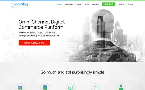Screenshot of Home Page contalog.com - Omni Channel Digital Commerce Platform for All Businesses - Contalog - captured Jan. 18, 2016