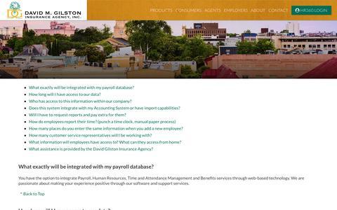 Screenshot of FAQ Page dgilston.com - Health Insurance, Charleston, SC, D Gilston, Healthcare Reform - captured Oct. 7, 2018