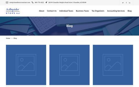 Screenshot of Blog chandleraccountant.com - Schneider & Stone PLC   Accounting Blog   Chandler, AZ - captured Oct. 2, 2018