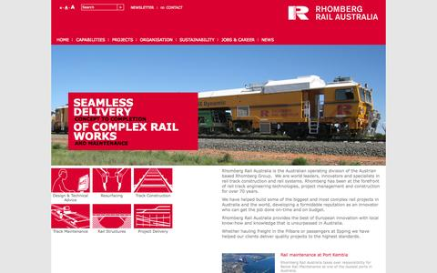 Screenshot of Home Page rhombergrail.com.au - Start Page - captured Oct. 7, 2014