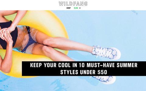 Screenshot of Blog wildfang.com - Wildfang Blog - - captured July 3, 2016