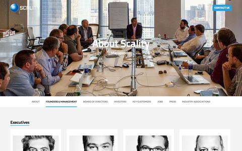 Screenshot of Team Page scality.com - Founders and Management - Scality								| 					Scality - captured Sept. 17, 2014