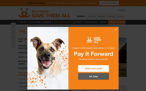 Screenshot of Maps & Directions Page bestfriends.org - Directions to Best Friends Sanctuary | Best Friends Animal Society - captured July 1, 2018