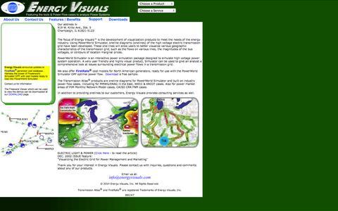 Screenshot of Home Page energyvisuals.com - Energy Visuals, Inc - captured Jan. 26, 2015