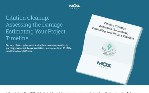 Moz - Citation Cleanup Whitepaper