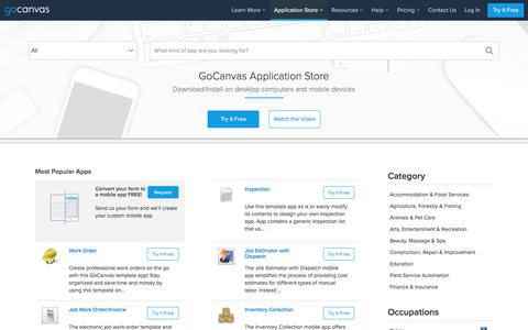 Mobile Business Apps and Forms on Android, iPad, iPhone - GoCanvas Application Store