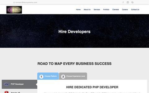 Screenshot of Developers Page kbcsystems.com - Developer :: - captured Dec. 10, 2018