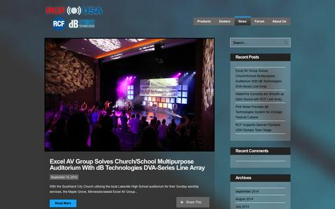 Screenshot of Press Page rcf-usa.com - RCF USA  » News - captured Oct. 27, 2014