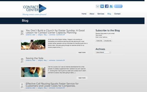 Screenshot of Blog contactcenter411.com - Contact Center & Customer Service Blog | Contact Center 411 - captured Oct. 10, 2014