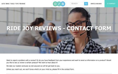 Screenshot of Contact Page ridejoy.com - Contact Us | Ride Joy Reviews - captured Dec. 12, 2018