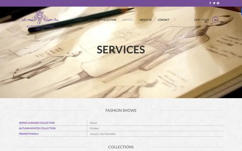 Screenshot of Services Page albertolusona.com - Services - Atelier Alberto Lusona - captured Feb. 6, 2016
