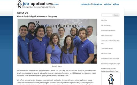 Screenshot of About Page job-applications.com - About Us - Job-Applications.com - captured Sept. 24, 2014