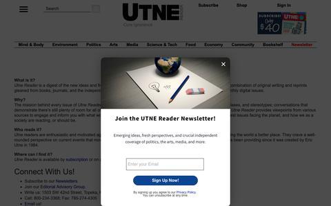 Screenshot of About Page utne.com - About the Utne Reader - captured Nov. 11, 2018
