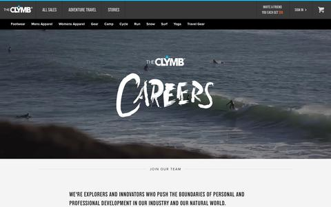 Screenshot of Jobs Page theclymb.com - Careers | Outside Magazine's 2012 & 2013 List of Best Places to Work | The Clymb - captured March 5, 2016
