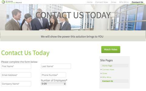 Screenshot of Contact Page xtrememortgageworx.com - Contact Us - XtremeMortgageWorX - captured Sept. 17, 2014