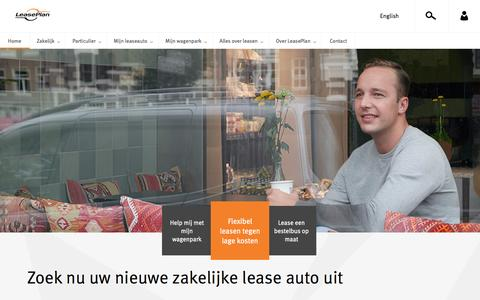 Screenshot of Home Page leaseplan.nl - Lease auto leasen | LeasePlan - captured April 15, 2016