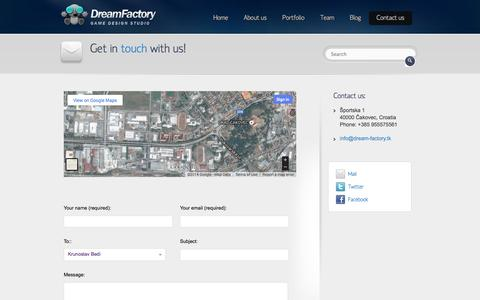 Screenshot of Contact Page dream-factory.tk - Contact us | Dream Factory - captured Oct. 27, 2014