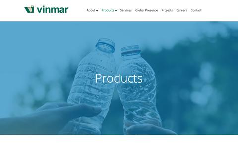 Screenshot of Products Page vinmar.com - Products - Vinmar International - captured May 30, 2019