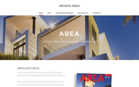 Screenshot of Home Page area-editorial.com - REVISTA AREA - AREA EDITORIAL - captured Dec. 9, 2018