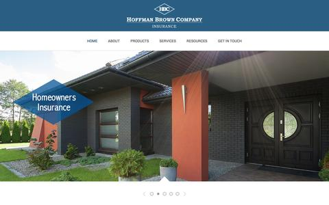 Screenshot of Home Page hoffmanbrown.com - Home | Hoffman Brown Company - captured Oct. 2, 2014
