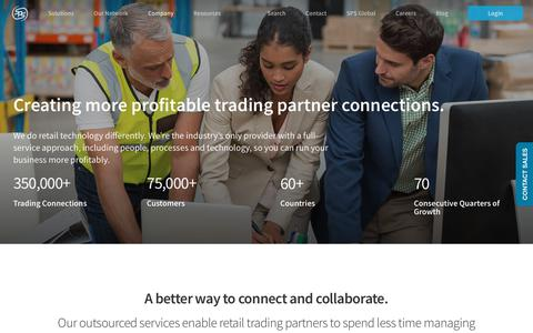 Screenshot of About Page spscommerce.com - About SPS Commerce | EDI Provider | Vendor Onboarding | Supply Chain - captured Oct. 21, 2018