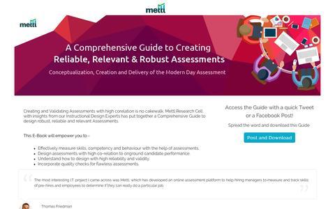 Screenshot of Landing Page mettl.com - Comprehensive Guide to Designing Assessments - captured Jan. 14, 2017