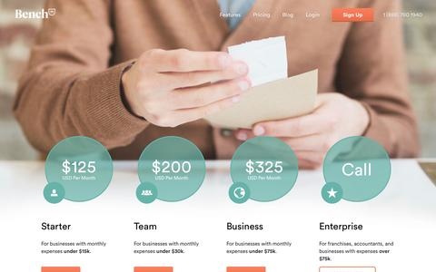 Screenshot of Pricing Page bench.co - Bench — Pricing - captured Sept. 13, 2014