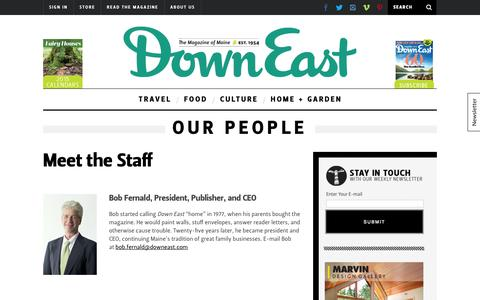 Screenshot of Team Page downeast.com - Our People - captured Sept. 24, 2014
