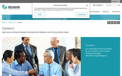 Screenshot of Jobs Page hexagonmi.com - Careers | Hexagon Manufacturing Intelligence - captured Sept. 25, 2018