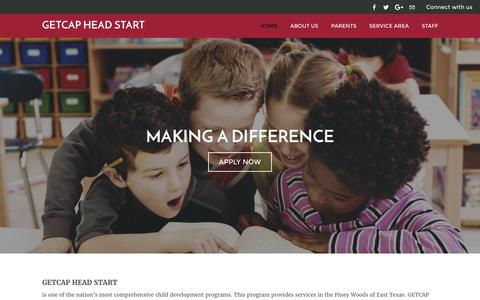 Screenshot of Home Page headstart-getcap.org - GETCAP Head Start - Home - captured Oct. 7, 2016